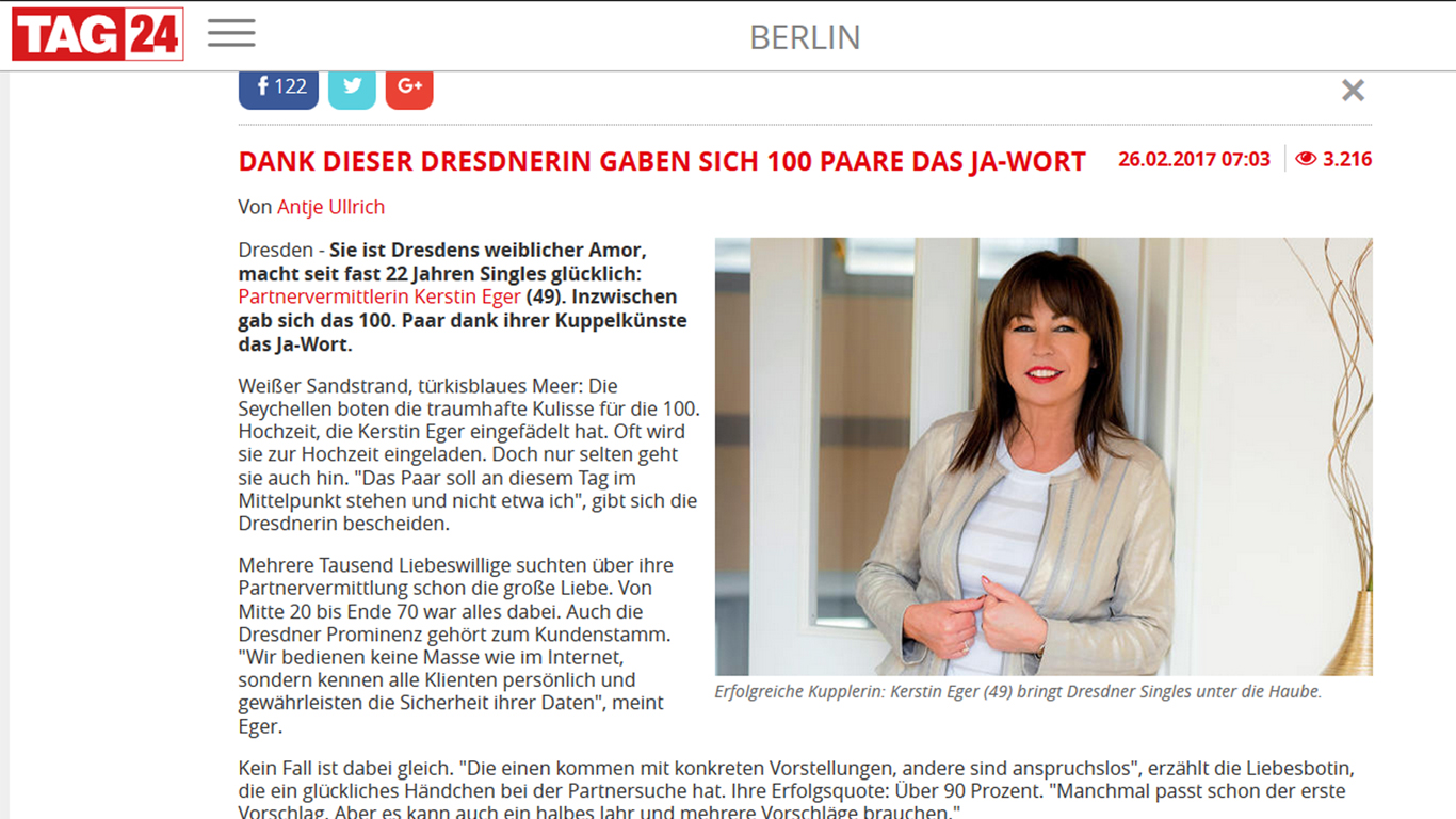 That largesse Kerstin Eger Partnervermittlung are