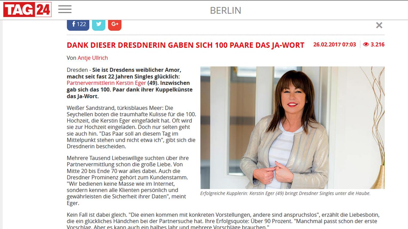 TAG 24 Kerstin Eger 100. Paar PVA Eger